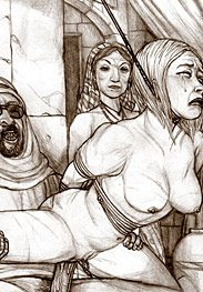 Harem slaves - This is some cock, slave, the best one you ever had I bet by Hines