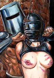 Ironmaster - Then he puts the iron mask on her by Mr.Kane