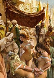 Slavegirls in an oriental world - Rise your white ass by Damian